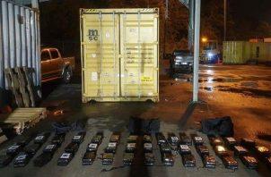 La droga fue contada y puesta a órdenes del Ministerio Público como evidencia del caso de tráfico internacional de estupefacientes.