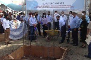 Laurentino Cortizo recordó que el proyecto mejorará la calidad de vida de la población.