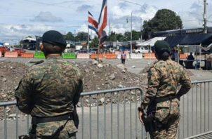Agentes del Servicio Nacional de Fronteras efectuaron la detención en Paso Canoas. Foto: Archivo