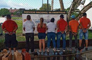 Un total de siete personas fueron retenidas. Foto: Mayra Madrid