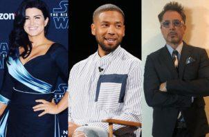 Gina Carano, Kevin Spacey y Robert Downey. Fotos: Instagram