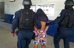 """""""Tintín"""" fue capturado en la comunidad de San Martín, corregimiento de Cativá."""