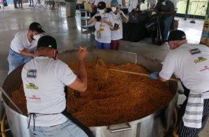 'El Pailón, cocinando esperanza' se realizó siguiendo las medidas de bioseguridad. Foto: Cortesía