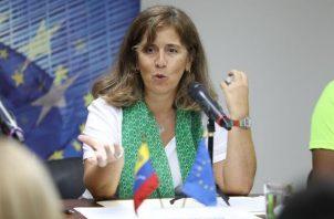 La jefa de Delegación de la Unión Europea en Venezuela, Isabel Brilhante