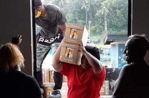 En el corregimiento del Guabo, área montañosa de Chagres se han entregado 600 bolsas de alimentos.