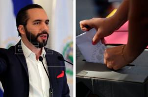 Votación en unos de los colegios electorales habilitados para renovar los 84 escaños de la Asamblea Legislativa y las 262 alcaldías, hoy en San Salvador (El Salvador). Foto:EFE