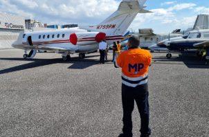 Aeronave propiedad de Ricardo Martinelli retenida en Guatemala tras denuncia anónima. Foto:Cortesía