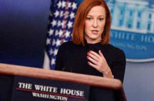 La portavoz de la Casa Blanca, Jen Psaki. Foto:EFE