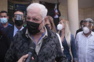 El expresidente Ricardo Marttinelli ha denunciado ser blanco de persecución política desde que dejó la Presidencia de la República.