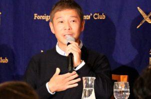 El empresario nipón Yusaku Maezawa, elegido como el primer turista espacial de la historia. Foto: EFE