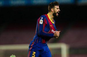 Gerard Piqué marcó el tanto en el 90 que le dio vida al Barcelona para la remontada. Foto: Twitter