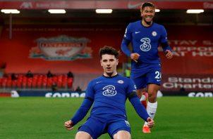 Chelsea derrotó 1-0 de visita al Liverpool con gol de Mason Mount. Foto: @ChelseaFC