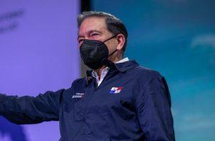 Laurentino Cortizo durante el acto de esta mañana.
