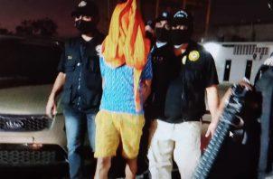 El sospechoso fue puesto a disposición del Ministerio Público. Foto: Eric A. Montenegro