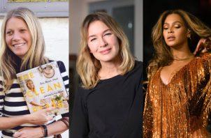 Gwyneth Paltrow, Renée Zellweger y Beyonce. Fotos: Instagram