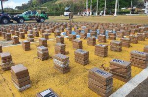 En el contenedor contabilizaron un total de 30 bultos contentivos de 1,500 paquetes de presunta sustancia ilícita por determinar.