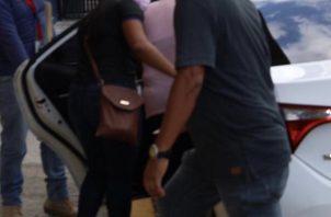 La persona imputada fue aprehendida ayer, sábado, en un hotel ubicado en el corregimiento de San Felipe. Foto cortesía Ministerio Público