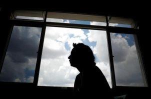 Fotografía de archivo de una mujer víctima de violencia machista en Sao Paulo (Brasil).