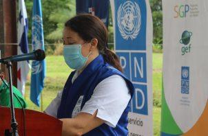 La representante residente a.i. del PNUD en Panamá, Aleida Ferreyra, expresó que la igualdad de género y el empoderamiento de las mujeres y las niñas es parte central del mandato de desarrollo de la organización.