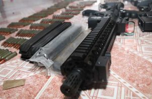En las incautaciones se incluyen armas de guerra de grueso calibre. Foto:Cortesía