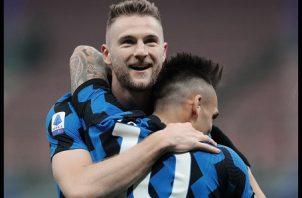 El eslovaco Milan Skriniar le dio la victoria al Inter sobre el Atalanta. Foto: @Inter