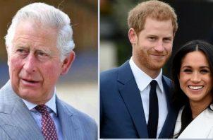 Príncipe Carlos, Harry y Meghan. Instagram