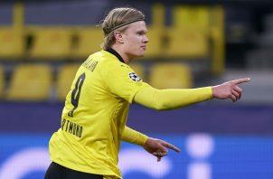 Haaland anotó los dos goles del Borussia Dortmund. Foto: @BleacherReport