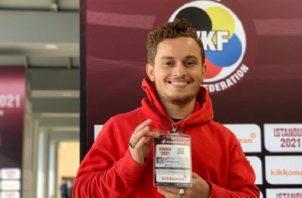 Héctor Cención es la gran esperanza del karate panameño para clasificar a las Olimpiadas. Cortesía