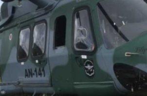 Helicóptero presidencial enviada a EE.UU. durante el varelismo.