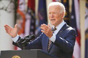 El presidente de Estados Unidos, Joe Biden, ya se vacunó contra la covid-19. Foto: EFE