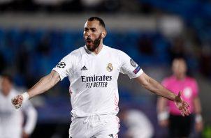 """Karim Benzema anotó el primero para """"los blancos"""". Foto: Twitter"""