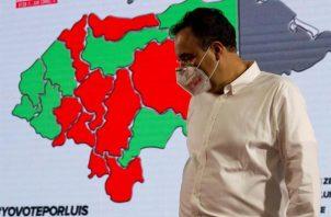 El aspirante a la presidencia de Honduras por el Partido Liberal, Luis Zelaya, en Tegucigalpa (Honduras).