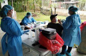 Intensifican pruebas de hisopados en Changuinola, Bocas del Toro. Foto de cortesía
