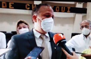 El gobernador Juan Carlos Muñoz advirtió a la población no caer en este tipo de delitos. Foto: Mayra Madrid