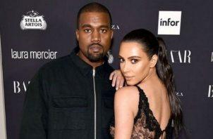 Kanye West y Kim Kardashian. Instagram