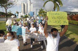 La marcha se realizó en la Cinta Costera.