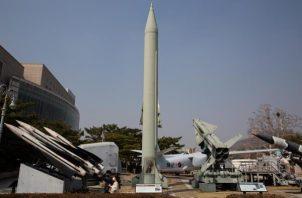 El misil balístico KN-23 es una modificación del Iskander ruso que Pionyang probó por primera vez en 2019. EFE