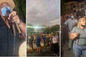 Imágenes de la manifestación en Las Tablas. Instagram