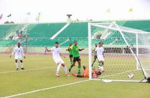 Primer gol de Panamá ante Anguila. Foto: Fepafut