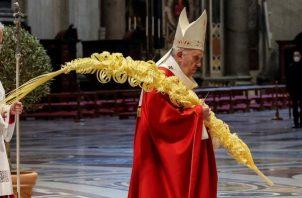 El papa Francisco oficia los actos del Domingo de Ramos.