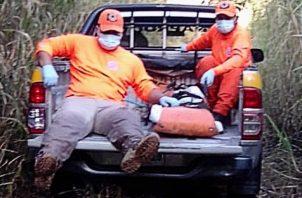 Investigan el hallazgo de un cuerpo en avanzado estado de descomposición en Volcancito. Foto:Cortesía