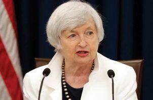 Janet Yellen habló del plan de estímulo de 1.9 billones de dólares firmado por el presidente de EE.UU., Joe Biden, a mediados de este mes. EFE