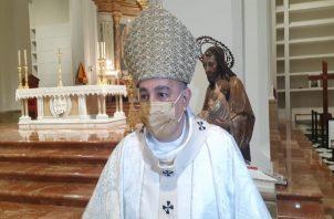 En esta misa no hubo participación de laicos para poder cumplir con el aforo requerido para evitar contagios de la la covid-19.