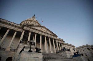 Una vista del frente este del Capitolio de los Estados Unidos.