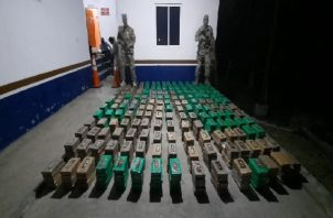 La sustancia ilícita fue trasladada a la provincia de Veraguas para su conteo y debida verificación.