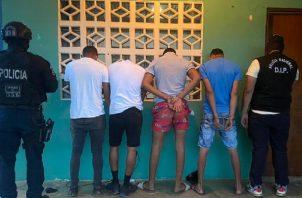 Cuatro personas fueron detenidas en el sector de Bique, en Arraiján.