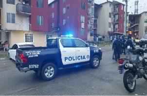 El cuerpo de Cristhian Ríos Santamaría, fue trasladado a la morgue Judicial de Colón. Foto:Cortesía