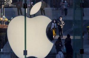 Logo de la companía Apple.