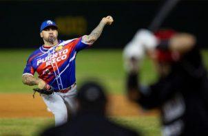 En la imagen, el pelotero puertorriqueño Hector Santiago.