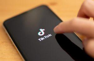 Logo de la red social de TikTok.